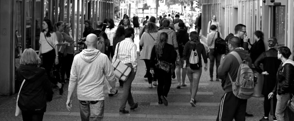 People Walking In Town