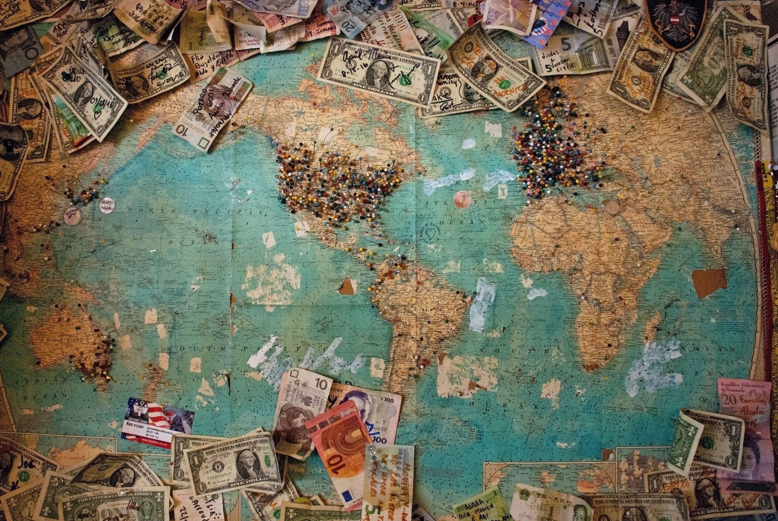 Money on Map