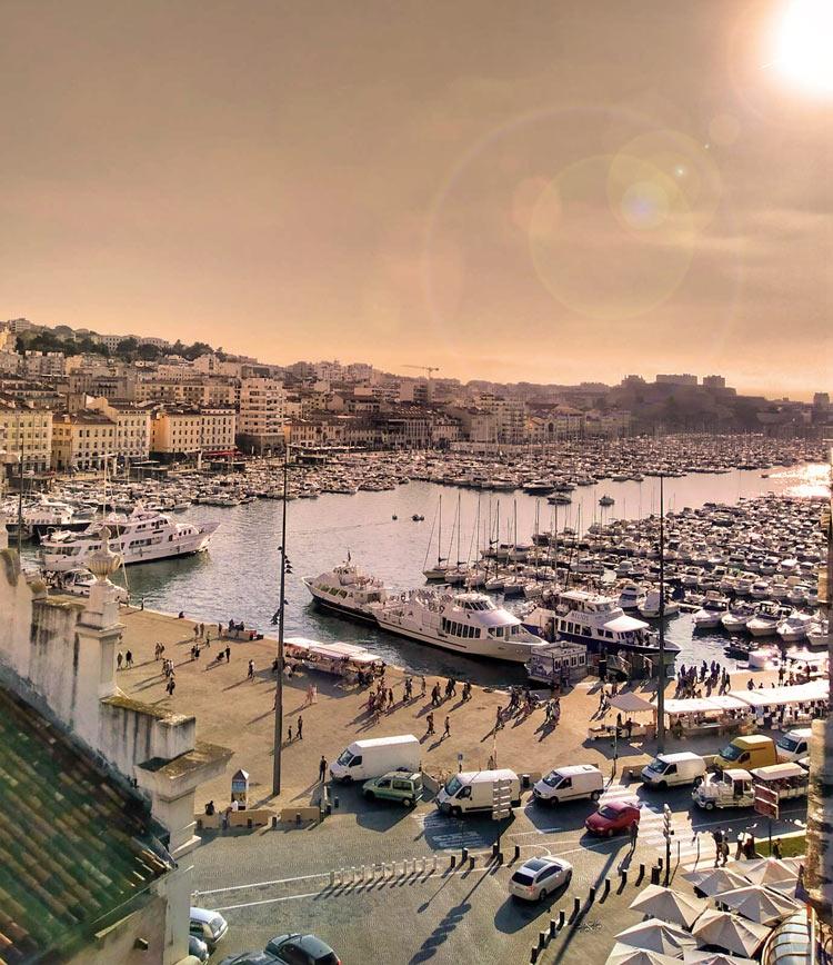 Ηλιοβασίλεμα Μασσαλία Γαλλία