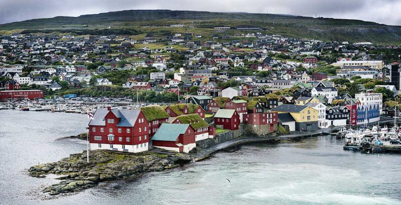 Πόλη Torshavn, πρωτεύουσα νήσων Φερόες